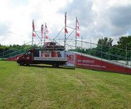 Radrennbrücke für das 24-Stunden-Rennen in Rabenstein